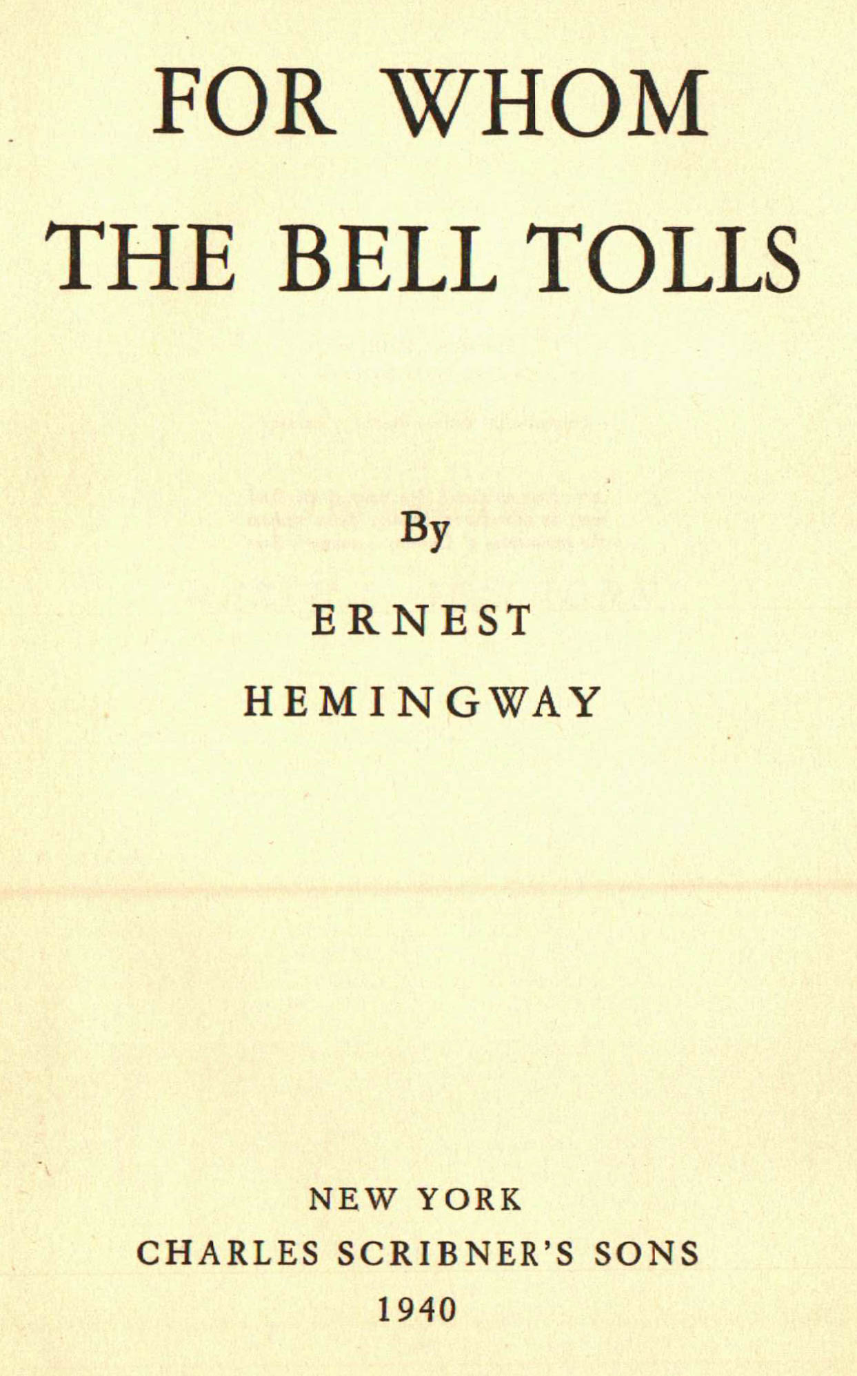 For Whom The Bell Tolls : eBay